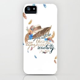 Jane Austen - No Enjoyment Like Reading iPhone Case