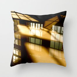 REFLECTIONS IN YELLOW Throw Pillow