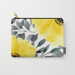 Big yellow watercolor flowers Carry-All Pouch