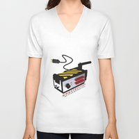 ghostbusters V-neck T-shirts featuring Ghostbusters by JAGraphic