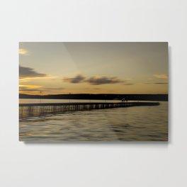 Pier walk Metal Print