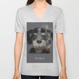 Fidel - The Havanese is the national dog of Cuba Unisex V-Neck