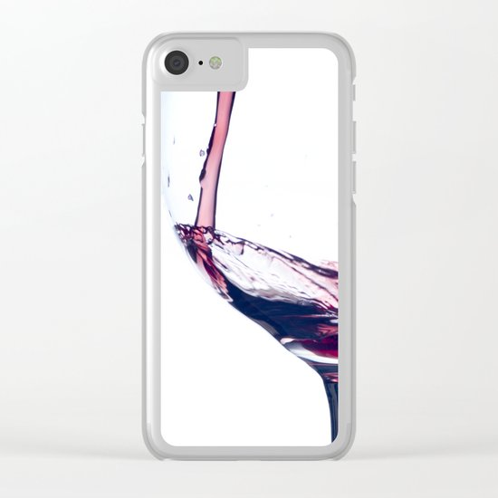 Red Wine Splash Clear iPhone Case