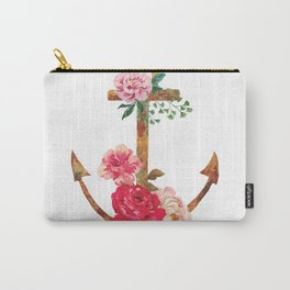 floral rusted anchor Carry-All Pouch
