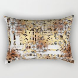 Abstract Animal Print Geometric Gothic Tile Rectangular Pillow