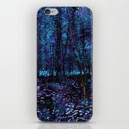 Van Gogh Trees & Underwood Indigo Turquoise iPhone Skin