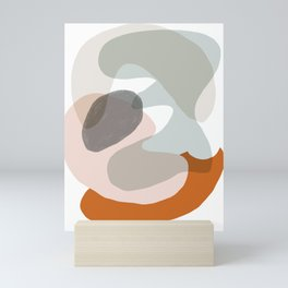 Shapes and Layers no.15 - soft neutral colors Mini Art Print