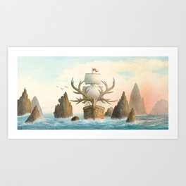 The Antlered Ship - Jacket Art Print