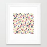 matisse Framed Art Prints featuring Matisse Floral by Rosie Simons