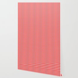 Large Australian Flag Red and White Gingham Check Wallpaper