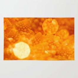 Macro Romanesco Broccoli - Bokeh Gold Rug