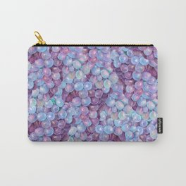 Blue Purple Grape Pattern Carry-All Pouch