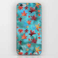 Dead Leaves over Cyan iPhone & iPod Skin