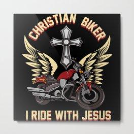Christian Motorcycle Biker Gift Metal Print