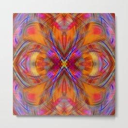 Orange And Lilac Abstract Metal Print