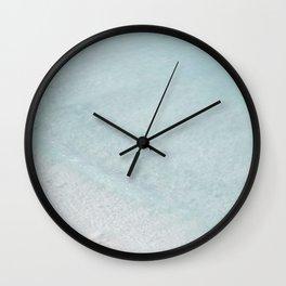 beach - the swimmer Wall Clock