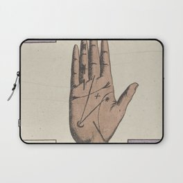 Vintage French Moon Tarot Card Laptop Sleeve