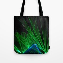 Green Tron Light Vibes Tote Bag
