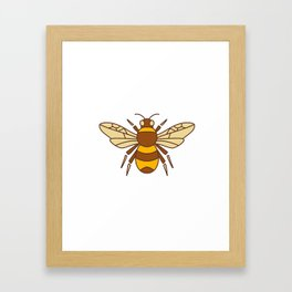 Bumble Bee Icon Framed Art Print