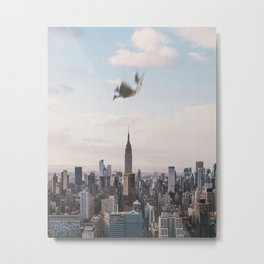 Falling-New York City Skyline Metal Print