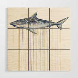 Tiger Shark Wood Wall Art