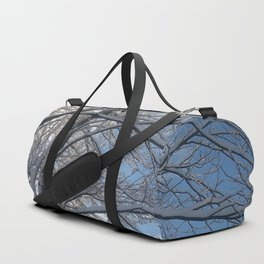 Snow-decorated trees Duffle Bag