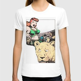Slave girl in the lions den T-shirt
