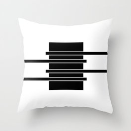 Lines | Black Minimal Throw Pillow