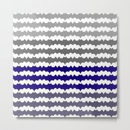 Ombre Abstract Pattern Metal Print
