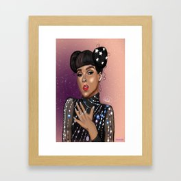 Star Girl signed print Framed Art Print