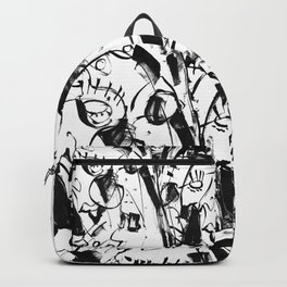 Caged Bird - b&w Backpack