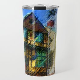 Fleur-de-Lys - H.P. Lovecraft novel home of Cthulhu oil on canvas - Providence, Rhode Island Travel Mug