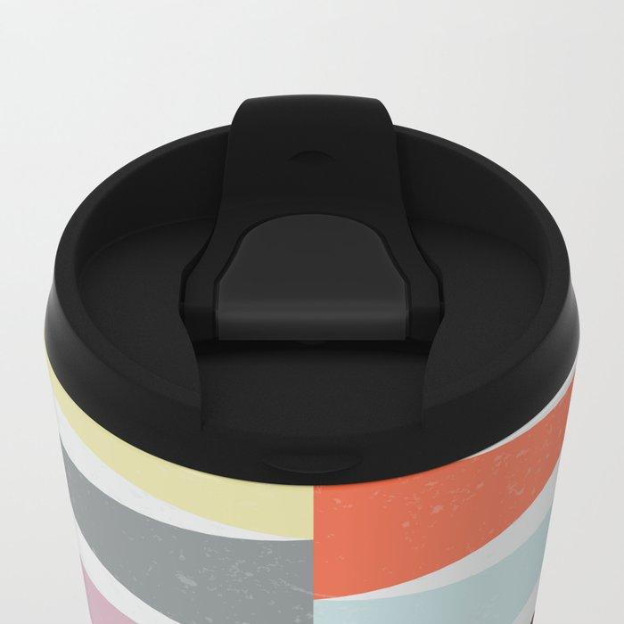 Colorful Peaks Metal Travel Mug
