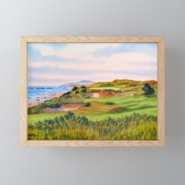 Pacific Dunes Golf Course Oregon WA Hole 11 Framed Mini Art Print