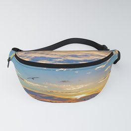 Daisys and Seagull at Sunset Fanny Pack