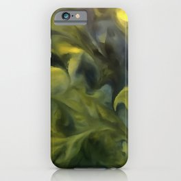 Jack Frost In Blue Gray and Yellow iPhone Case