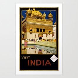 Visit India Art Print