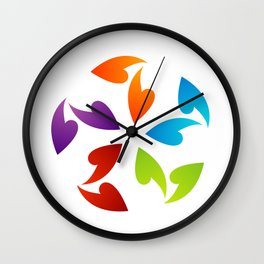 Abstract flora- colorful flower Wall Clock