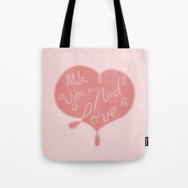 All you need is love - Lettering Tote Bag