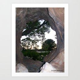 Circle in the Rock Art Print