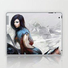 Huh... Hot girl on motorcycle Laptop & iPad Skin