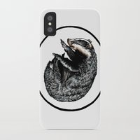badger iPhone & iPod Cases featuring Badger by Natalie Toms Illustration