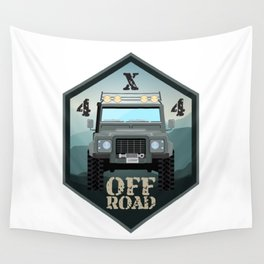 Off road car 4x4 Wall Tapestry