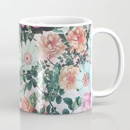 Vintage green pink lavender country floral Coffee Mug