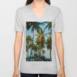 Palms in Punta Cana Unisex V-Neck