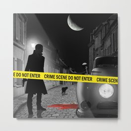 Crime scene do not enter Metal Print