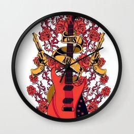 Guns and roses Wall Clock