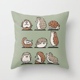 Hedgehog Yoga Throw Pillow