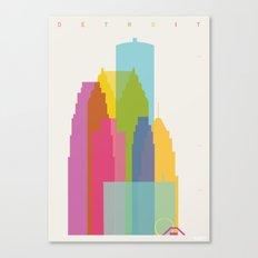 Shapes of Detroit Canvas Print