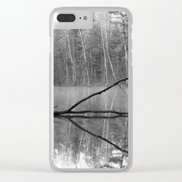 Black and White Reflections over Bluegill Bond Clear iPhone Case